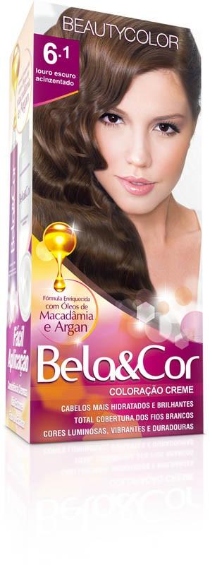 Coloração Permanente BELA&COR 110G 6.1 LOURO ESC ACINZ