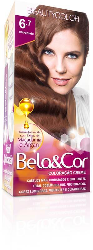 Coloração Permanente BELA&COR 110G 6.7 CHOCOLATE
