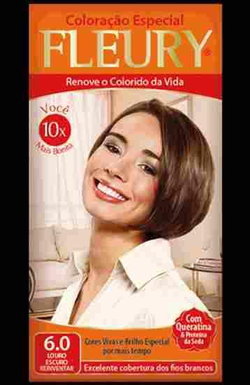 Coloração Permanente FLEURY KIT 6.0 LOURO ESCURO