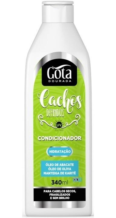 CONDICIONADOR CACHOS DEFINIDOS 340ML - GOTA DOURADA