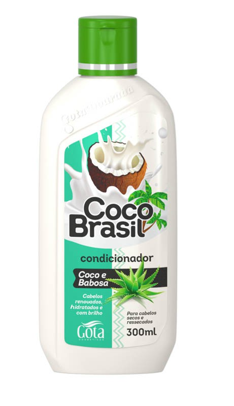 CONDICIONADOR COCO E BABOSA 300ML - GOTA DOURADA