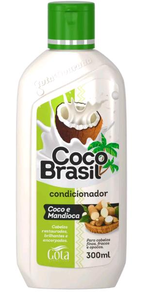 CONDICIONADOR GOTA DOURADA 300ML COCO E MANDIOCA