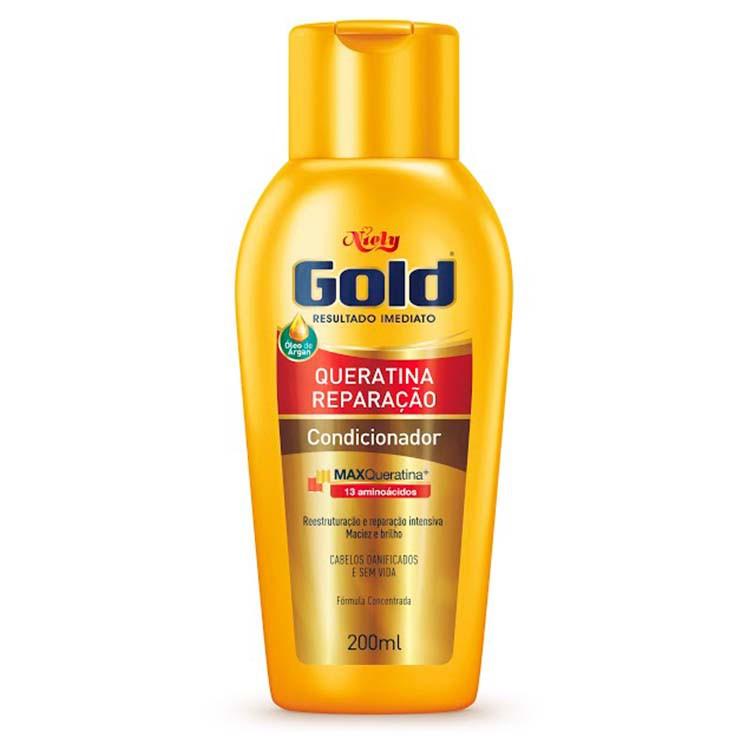 CONDICIONADOR NIELY  GOLD 200ML QUERATINA REPARAÇÃO