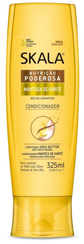 CONDICIONADOR NUTRIÇÃO PODEROSA MANTEIGA DE KARITÉ 325ML - SKALA