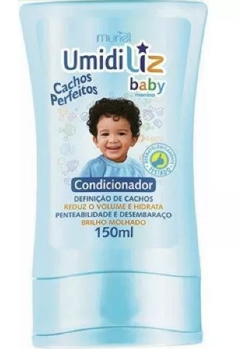 CONDICIONADOR INFANTIL BABY DESEMBARAÇANTE COM CAMOMILA E ALOE VERA 150ML - MURIEL