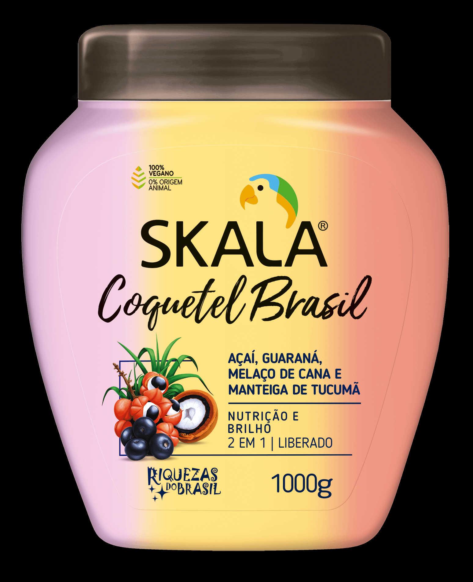 CREME DE TRATAMENTO 2X1 COQUETEL BRASIL 1KG - SKALA