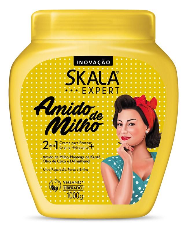 CREME DE TRATAMENTO AMIDO DE MILHO 2 EM 1 1KG - SKALA
