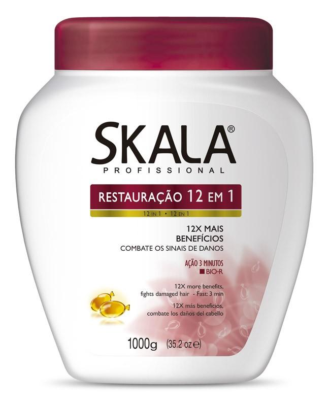 CREME DE TRATAMENTO RESTAURAÇÃO 12 EM 1 1KG - SKALA