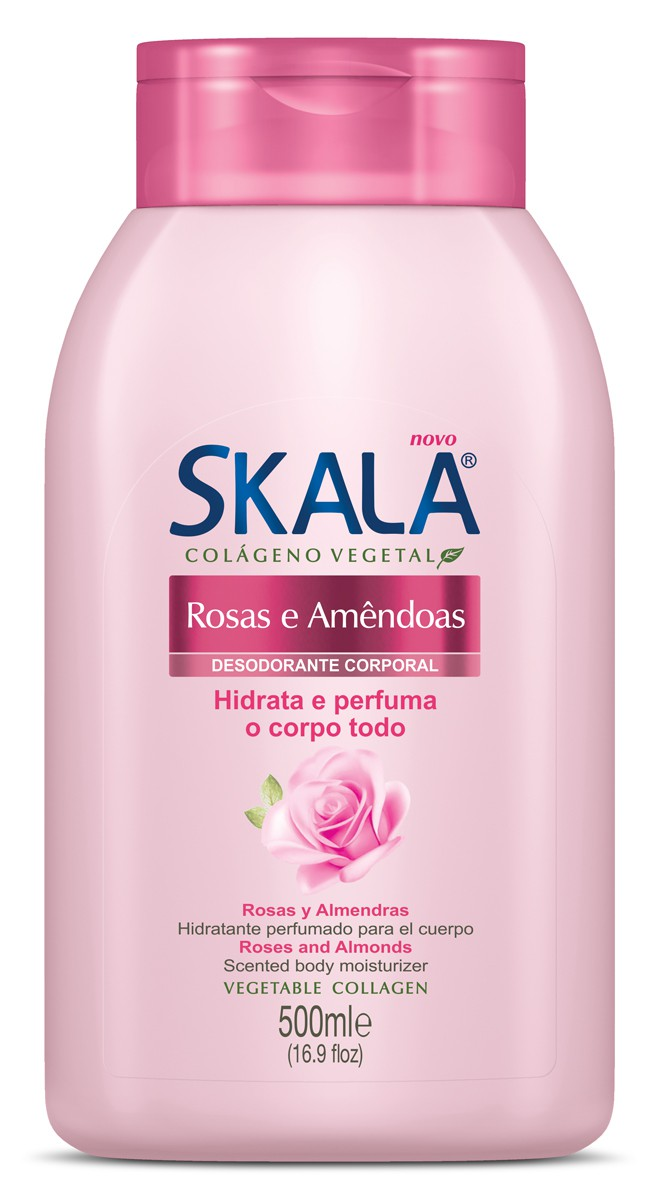 CREME HIDRATANTE ROSA E AMÊNDOAS 500ML - SKALA