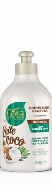 CREME PARA PENTEAR LEITE DE COCO 300ML - GOTA DOURADA