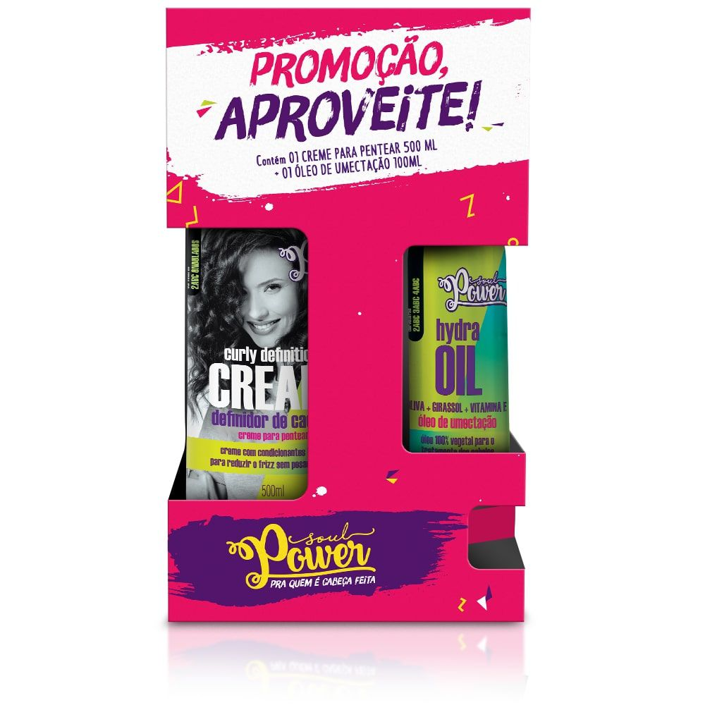 CREME PENTEAR DEFINITION CREAM + OLEO DE OLIVA - SOUL POWER