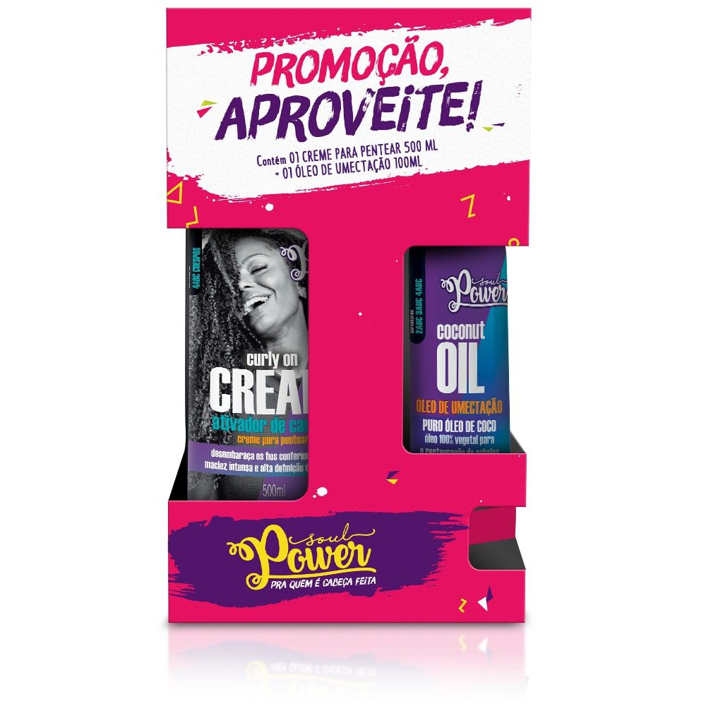 CREME PENTEAR ON CREAM + OLEO DE COCO - SOUL POWER