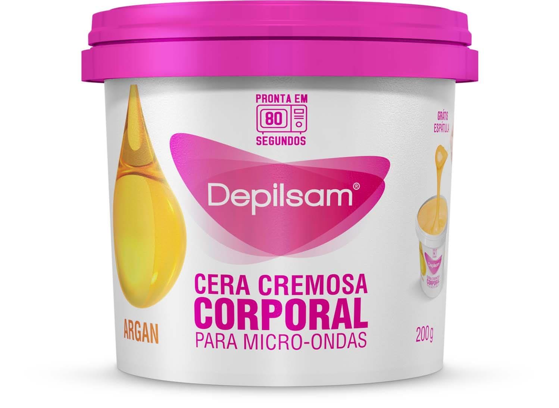 CERA CREMOSA MICRO-ONDAS DEPILSAM ARGAN 200G - PERFUMES DANA