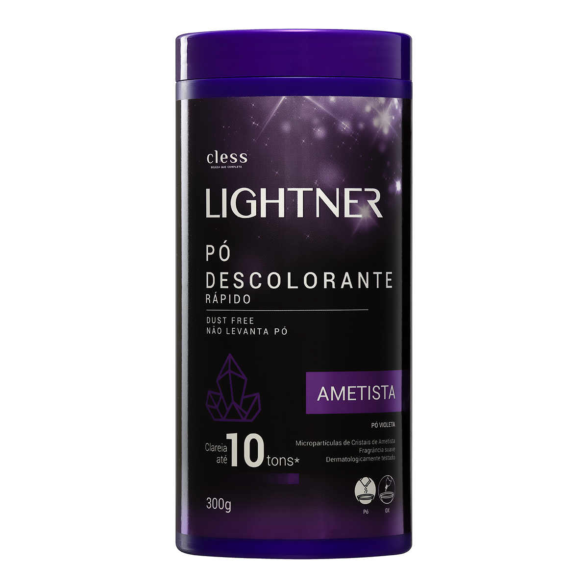 DESCOLORANTE LIGHTNER PO 300G AMETISTA POTE