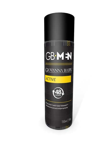 DESODORANTE AEROSOL MEN ACTIVE 150ML - GIOVANNA BABY