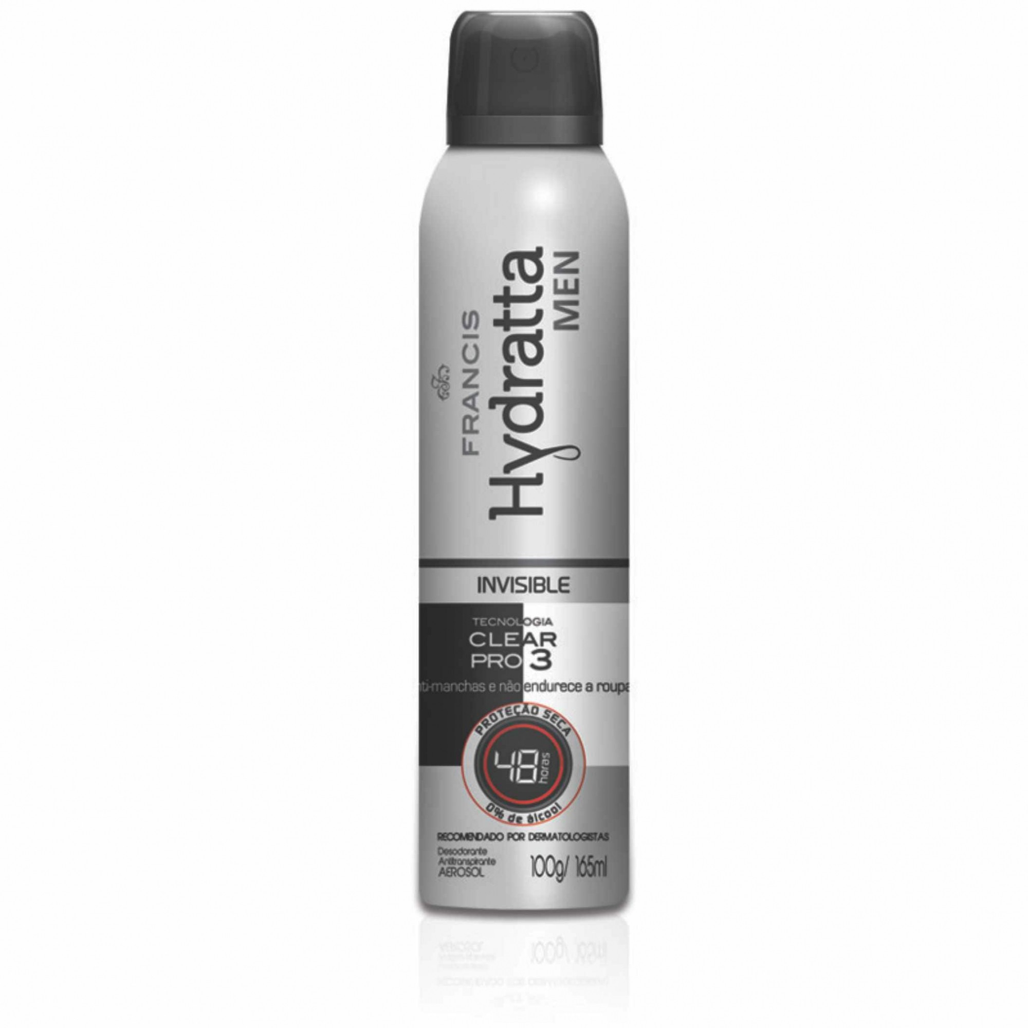 DESOD. AEROSOL HYDRATTA 165ML MEN BRANCO