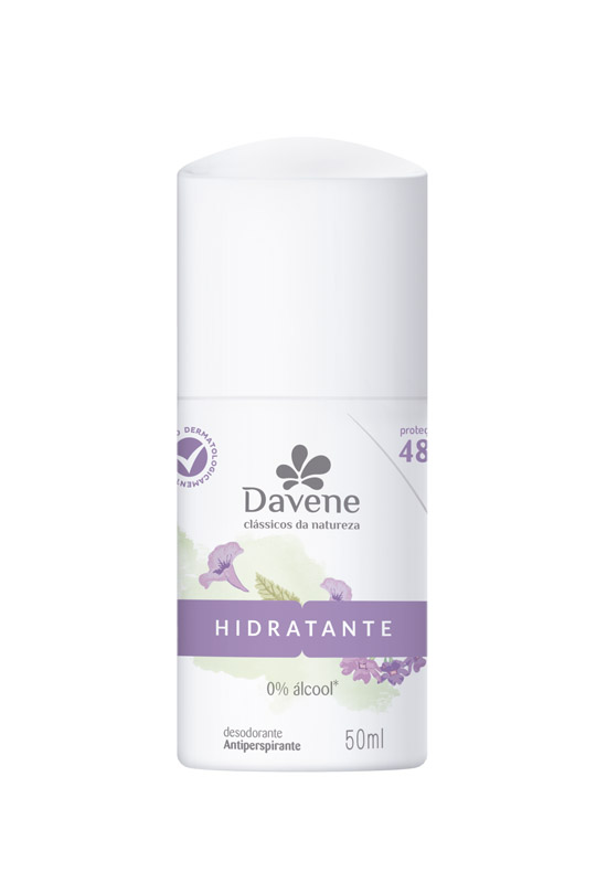 DESODORANTE ROLL ON CLÁSSICOS DA NATUREZA HIDRATANTE 50ML - DAVENE
