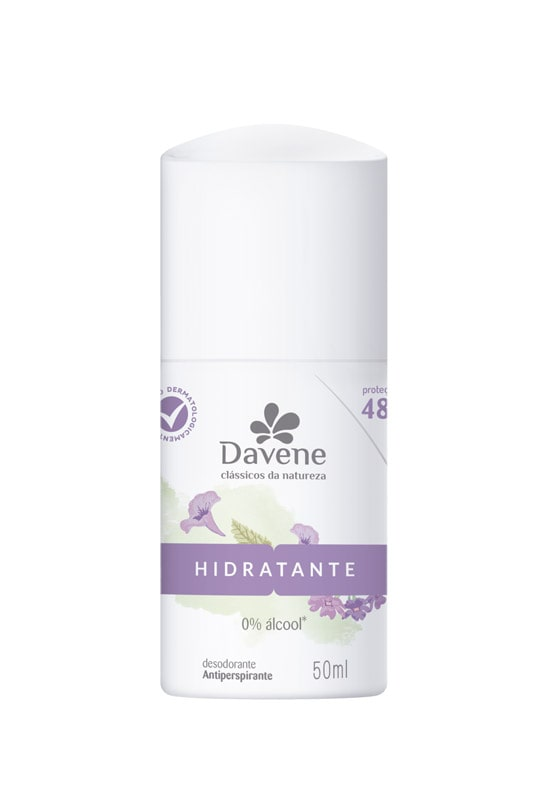 DESODORANTE ROLL ON DAVENE CLA NATUREZA 50ML HIDRATANTE