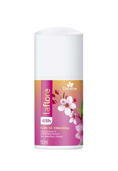 Desodorante Roll On Flor Cerejeira La Flore 50ml - Davene