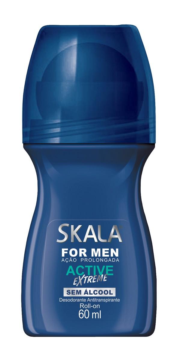 DESODORANTE ROLL-ON FOR MEN ACTIVE EXTREME 60ML - SKALA