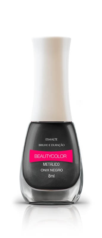 ESMALTE BEAUTY 8ML MET ONIX NEGRO