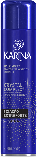 FIXADOR HAIR SPRAY KARINA 400ML AERO EXT FORTE