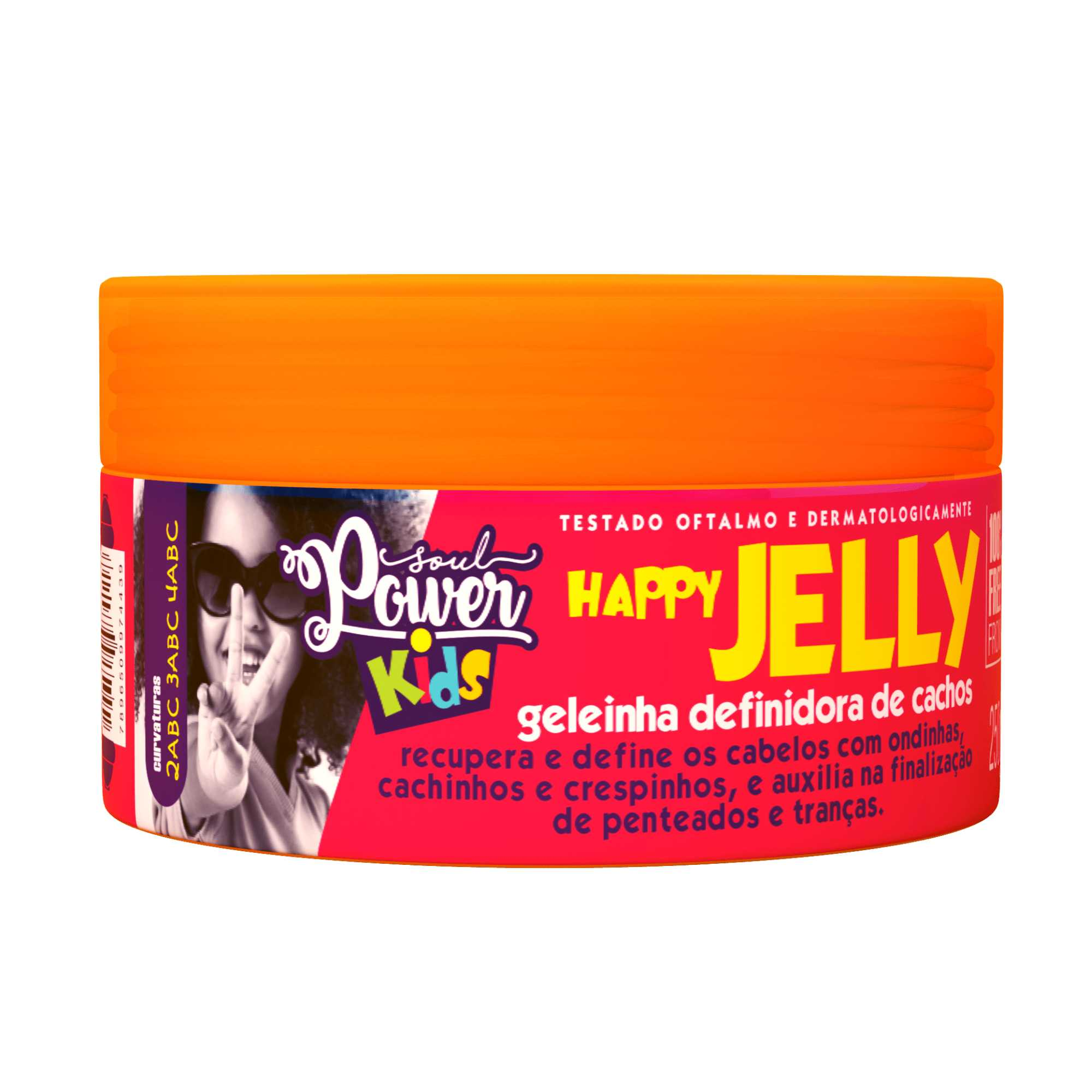 GELEINHA INFANTIL DEFINIDORA DE CACHOS HAPPY JELLY - SOUL POWER