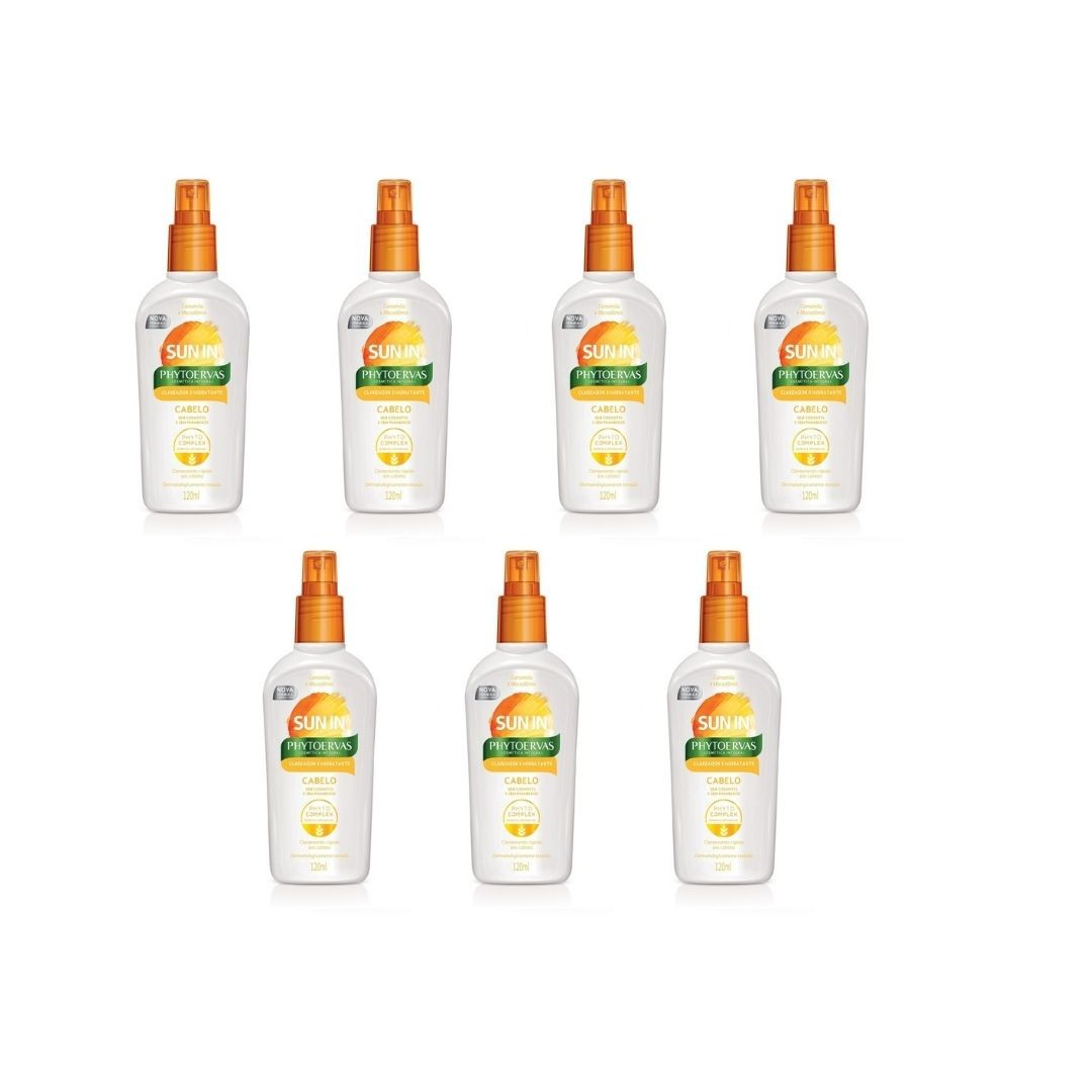 KIT 7 DESCOLORANTE SPRAY SUN IN CAPILAR 120ML - PHYTOERVAS