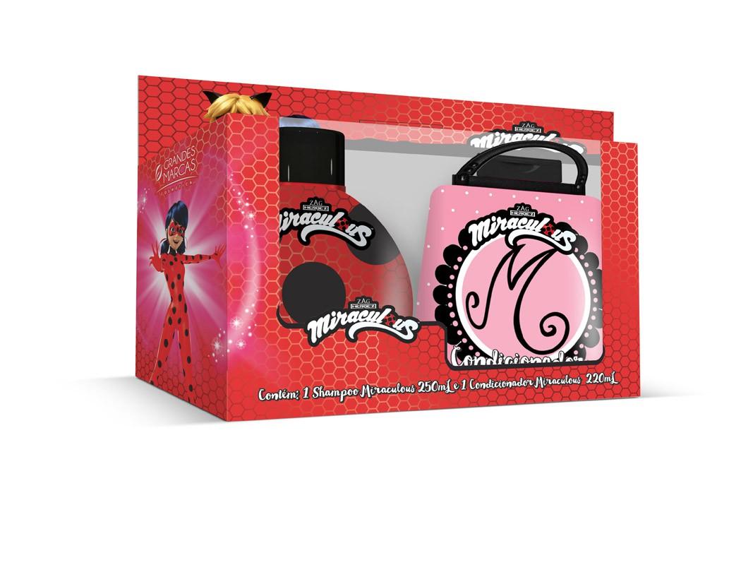 Kit Shampoo + Condicionador Infantil Miraculous Ladybug - Gds