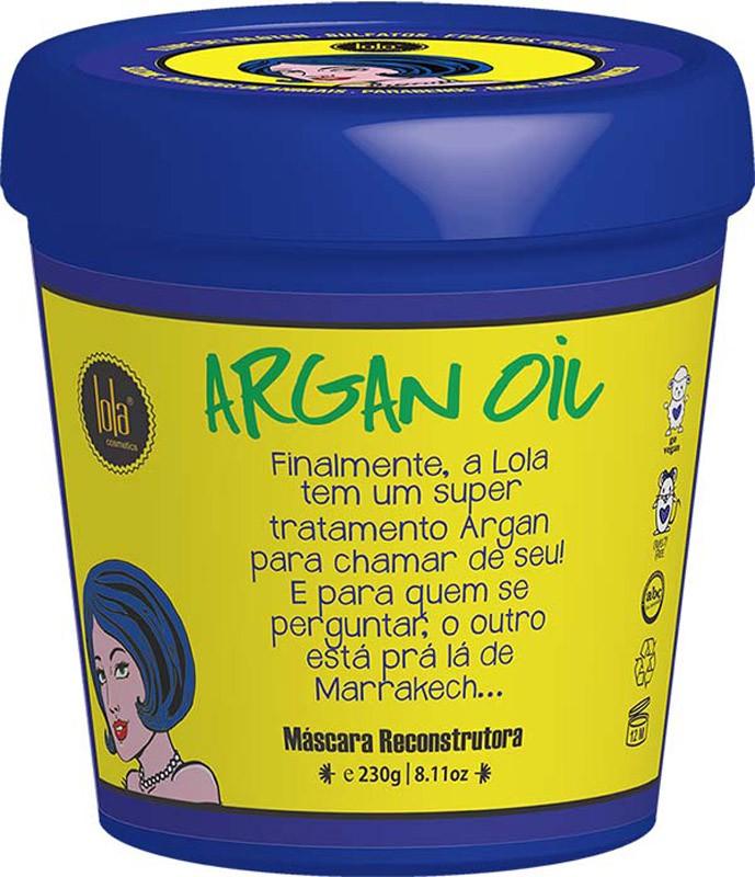 MÁSCARA RECONSTRUTORA ARGAN OIL 230G - LOLA