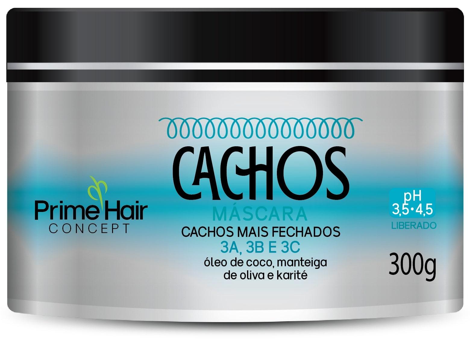MASCARA PRIME HAIR 300G CACHOS-CACHO+FECHAD