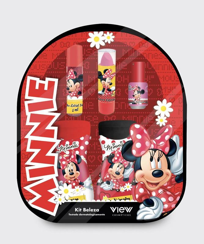 Mochila Minnie Com Kit De Beleza Infantil