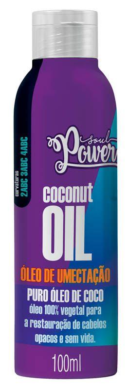 ÓLEO DE UMECTAÇÃO COCONUT OIL - SOUL POWER 100ML