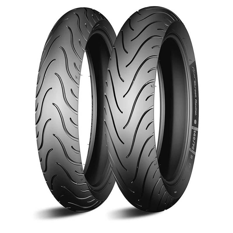 Par De Pneu 80/90-17 + 110/80-14 Michelin Pilot Street Biz