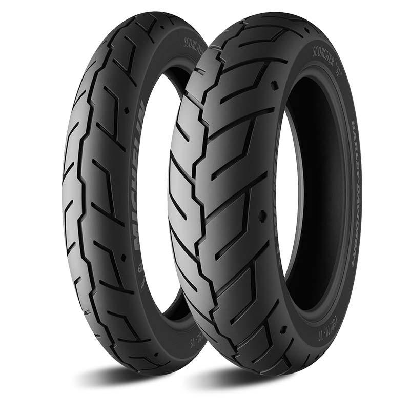 Par Pneu Harley Michelin Scorcher 31 130/60-19+180/65-16