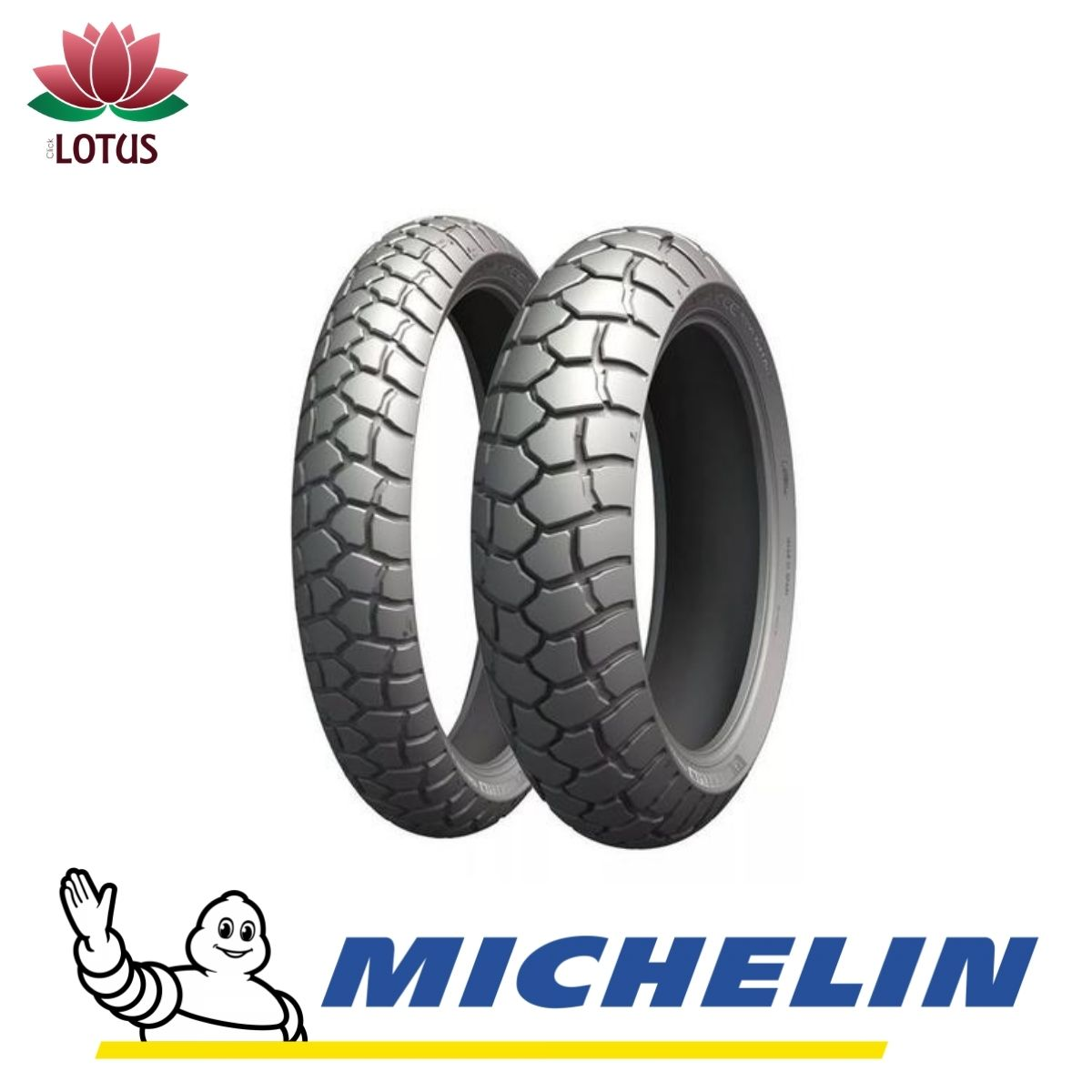 PAR PNEU MICHELIN MOTO ANAKEE ADVENTURE 110/80 19+150/70 17