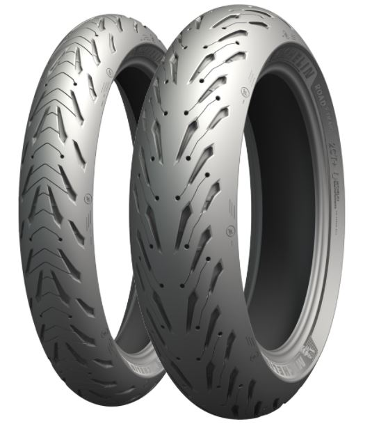 PAR PNEU MICHELIN MOTO PILOT ROAD 5 180/55-17 + 120/70-17