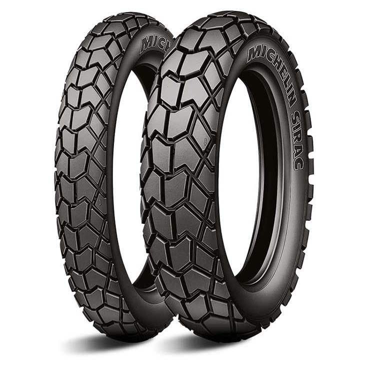 Par Pneu Michelin Sirac 110/90-17 +90/90-19 Bros 125/150/160