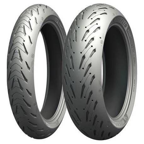 Par Pneu Road 5 Michelin 120/70 ZR17 (58W) + 190/55 ZR17 (75W) + Limpa Pneu Proauto