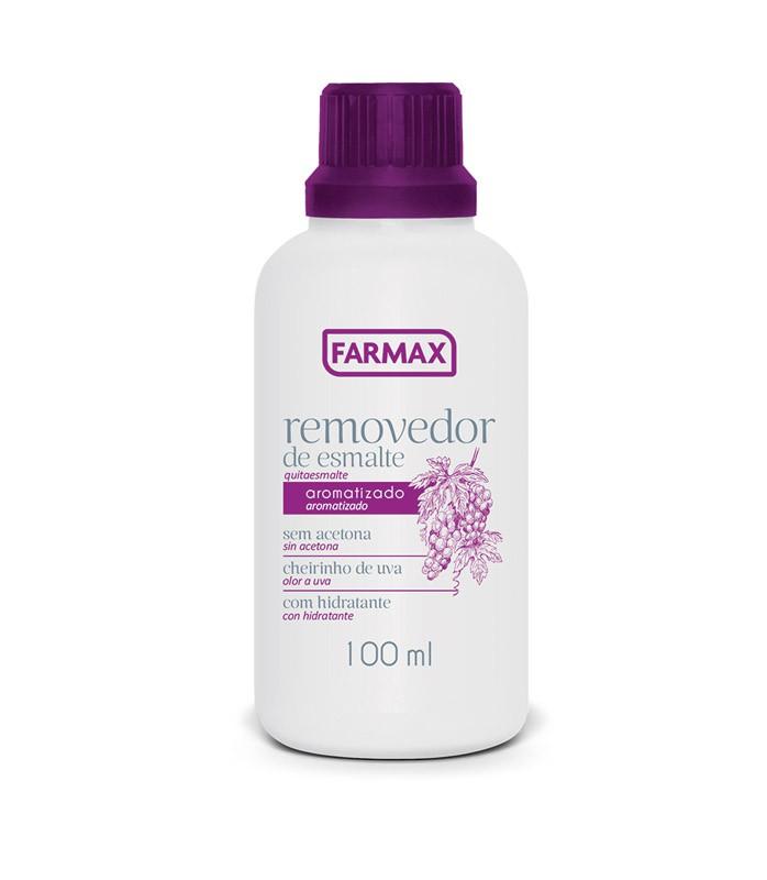 REMOVEDOR SEM ACETONA UVA 100ML - FARMAX