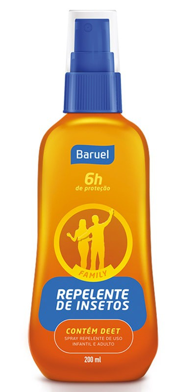REPELENTE SPRAY FAMILY 6 HORAS 200ML - BARUEL