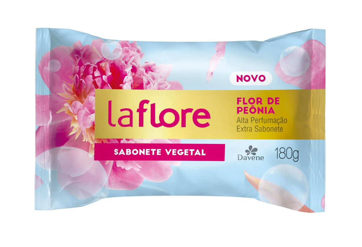 SABONETE LA FLORE FLOR DE PEÔNIA 180G - DAVENE