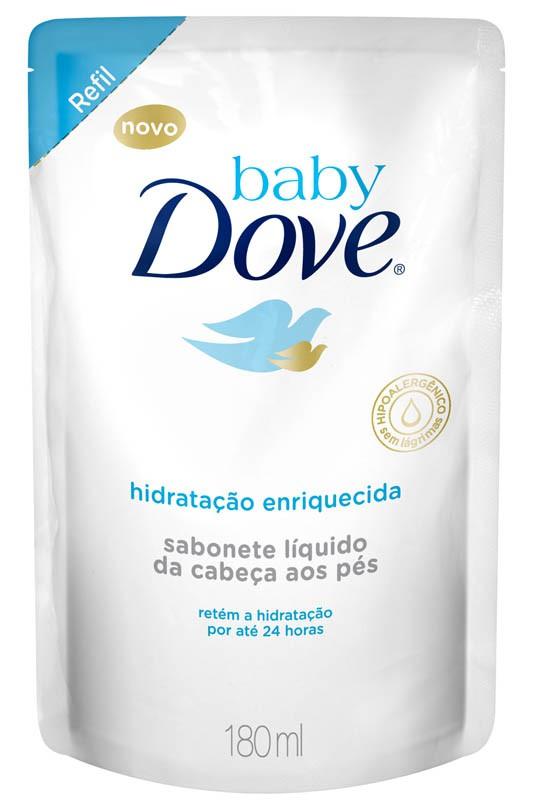 SABONETE LIQ. INFANTIL HID DOVE BABY REF 180ML ENRI