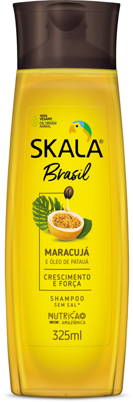 SHAMPOO BRASIL MARACUJÁ E ÓLEO DE PATAUÁ 325ML - SKALA