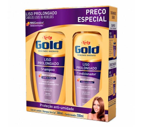 SHAMPOO + CONDICIONADOR NIELY GOLD LISO PROLONGADO - LOREAL