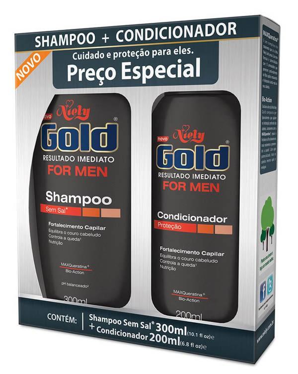 SHAMPOO + CONDICIONADOR NIELY GOLD RESULTADO IMEDIATO FOR MEN - LOREAL
