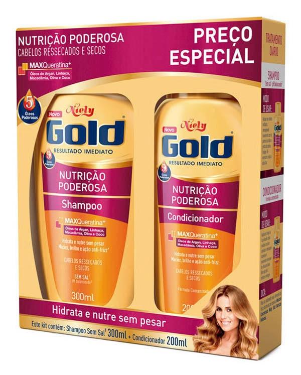 SHAMPOO+CONDICIONADOR NIELY GOLD NUTRICAO MAGICA