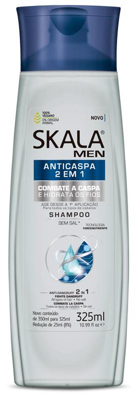 SHAMPOO FOR MEN ANTICASPA 2 EM 1 325ML - SKALA