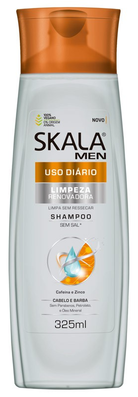 SHAMPOO FOR MEN USO DIÁRIO 325ML - SKALA
