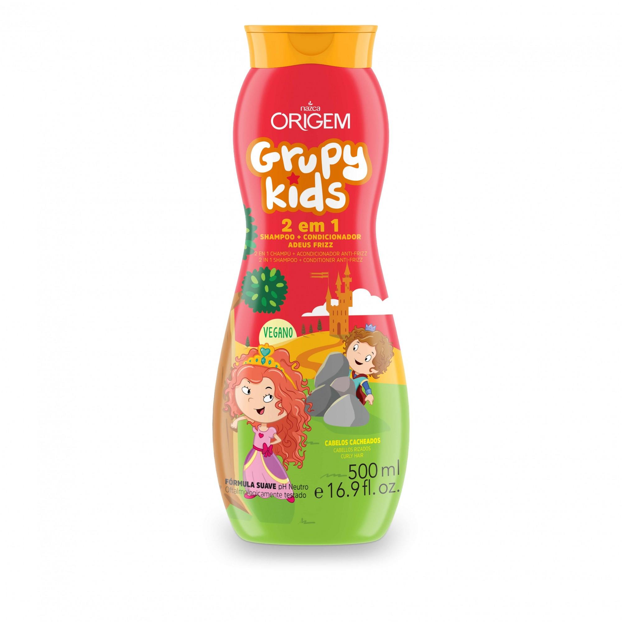 SHAMPOO INFANTIL GRUPY KIDS ADEUS FRIZZ 2 EM 1 500ML - NAZCA